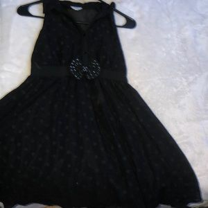 Black Button up kids dress
